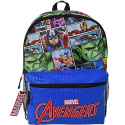 """16"""" Avengers Backpack with Pocket - (12 count)"""